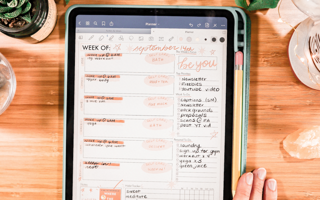 How to Use a Digital Planner on the iPad